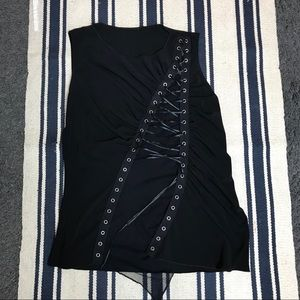 Tops - Drawstring Top in Black Size M